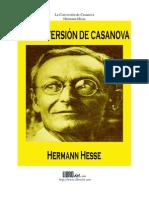 HESSE, Hermann - La conversión de Casanova