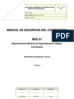 MSC 01 - Requisitos Minimos Seguridad Para Subcontratistas