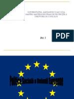 Politica Socială a Uniunii Europene