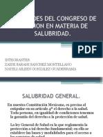 Facultades Del Congreso de La Union en Materia