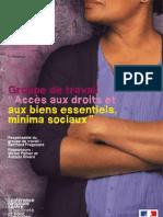 Rapport « Accès aux droits et aux biens  essentiels, minima sociaux »  Fragonard 2011