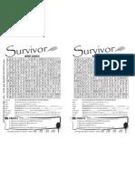 Survivor Activity Sheet