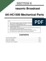 AK-HC1500G Parts List
