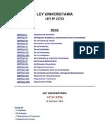 Ley Universitaria N° 23733-UNSM