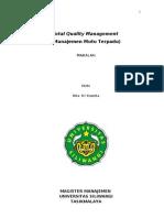 Total Quality Management Manajemen Mutu Terpadu