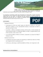 Press-release referente ao 1T10