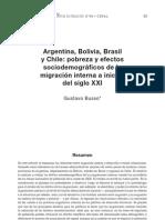 Argentina Bolivia Brasil y Chile Pobreza y Efectos Sociodemograficos de La Migracion Interna