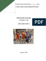 Programa Scolara Educatie Fizica 5 8