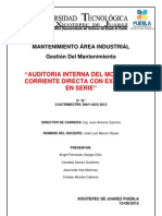 Auditoria de Motor de CD