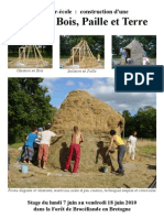 Manual cabaña con tierra paja