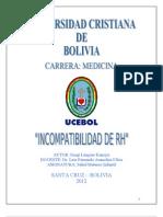 Trabajo de Incompatibilidad de Rh