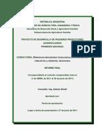 PRINCIPALES NECESIDADES TECNOLÓGICAS DE LA AGRICULTURA FAMILIAR EN LA ARGENTINA. REGION NEA