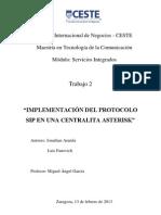 IMPLEMENTACIÓN DEL PROTOCOLO SIP EN UNA CENTRALITA ASTERISK