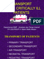 Transport of the Critically Ill - Kbk