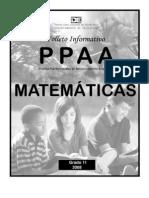 FOLLETO INFORMATIVO PRUEBAS PUERTORRIQUEÑAS MATEMÁTICAS UNDÉCIMO GRADO 2008-2009
