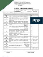 Planificación Actividad Académica