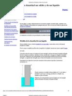 Medida de la densidad un sólido y de un líquido PRACTICA 2