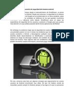 Configuración de seguridad del sistema android