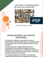 Ayuda Nacional e Internacional en Caso de Desastres