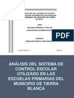 Análisis del Sistema de Control Escolar EXPOS