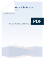 Modelación de Tránsito