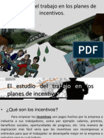 El Estudio Del Trabajo en Los Planes de Incentivos