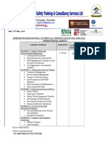 Nebosh Oil & Gas Certificate Quotation