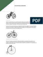 Historia y Evolucion de La Bicicleta y El Automovil