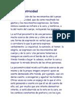 La Psicomotricidad._ Psicologia Juridica