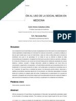 Aproximación al Uso de la Social Media en Medicina