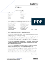 Air Tavel Quiz - Worksheet