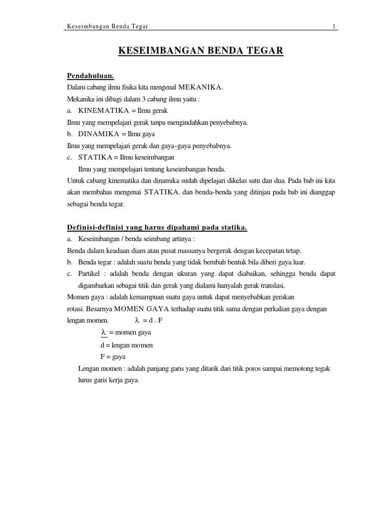 Dinamika Rotasi Dan Kesetimbangan Benda Tegar Ebook Download