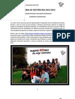 Memoria de Gestión REA 2012-2013