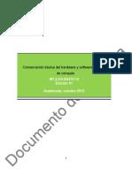 Conservación básica del Hardware y Software de equipo de cómputo