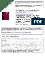 Mendelson Maoz on Amos Oz - Journal of Modern Jewish Studies