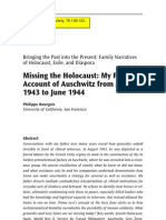 Bourgois, P. Missing the Holocaust My Father's Account of Auschwitz From August 1943 to June 1944. (Anthropological Quarterly)