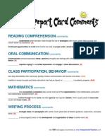 10 Frenarrative report e Report Card Comments