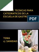 Normas Tecnicas Para Catedraticos de La Escuela De