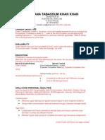 CareerHub Resume Casual - Copy