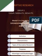 Descriptive Research Grup 3