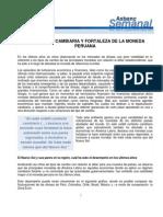 Volatilidad Cambiaria y Fort de La Moneda Peruana