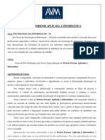 SEC - Wpós - PERÍCIA FORENSE APLICADA À INFORMÁTICA