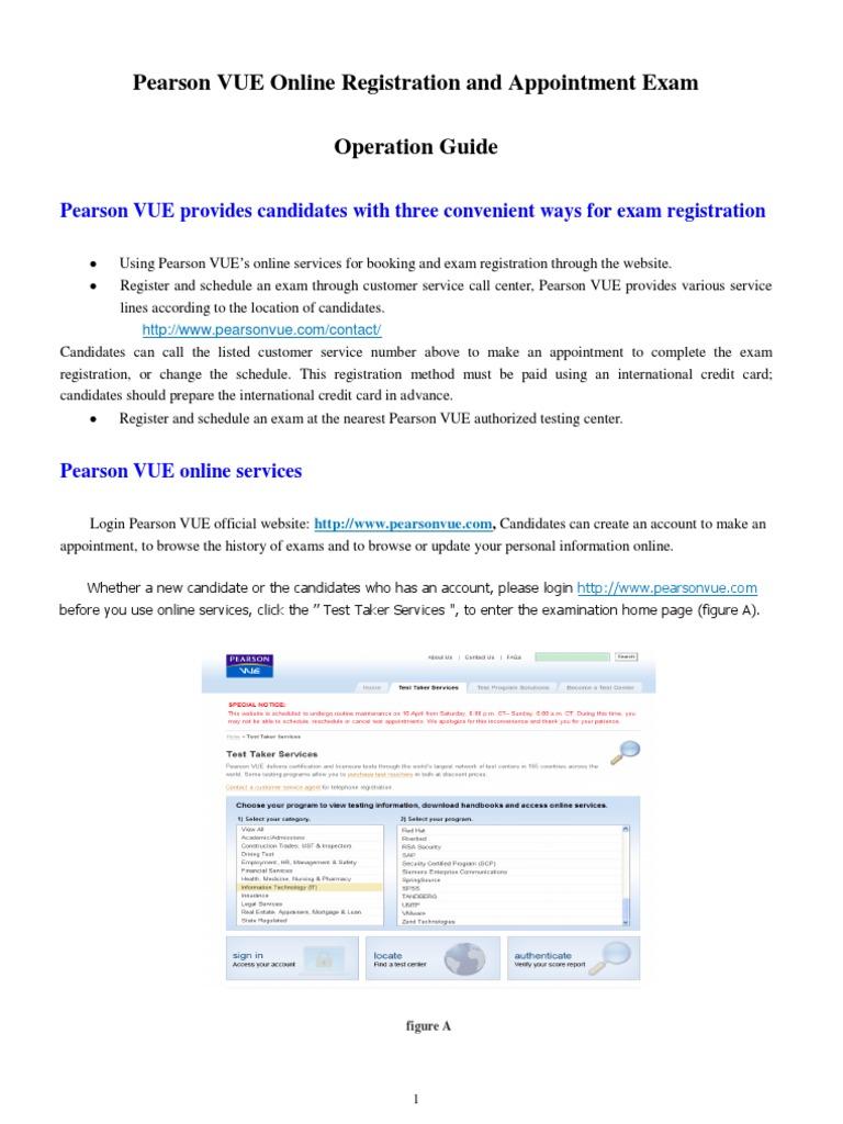 Pearson Vue Exam Operation Guide 20120913vb Test Assessment