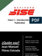 Clase 1 - La Publicidad & Propaganda- Sise