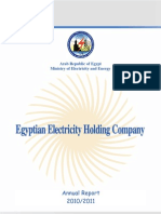 Egyptian electrical grid annual report 2011