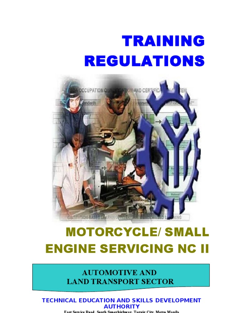 motorcycle small engine servicing nc ii 1 occupational safety