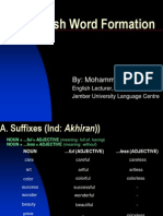 English Word Formation-Pptpresentation