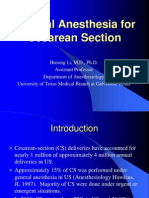 General Anesthesia for Cesarean Section.ppt