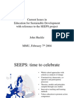 Current Issues in Education for Sustainable Development With Reference to the SEEPS Project