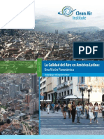 Calidad del Aire en America Latina / Vision panoramica 2012 / Cean air Institute